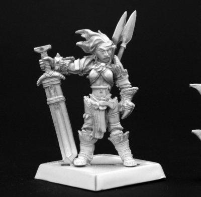 Amiri, Iconic Female Human Barbarian - Pathfinder Miniatures - Reaper Miniatures