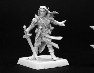 Arael, Half Elf Cleric - Pathfinder Miniatures - Reaper Miniatures