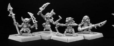 Goblin Warriors (4) - Pathfinder Miniatures - Reaper Miniatures