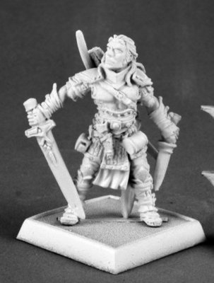 Valeros, Male Iconic Fighter (version 2) - Pathfinder Miniatures - Reaper Miniatures