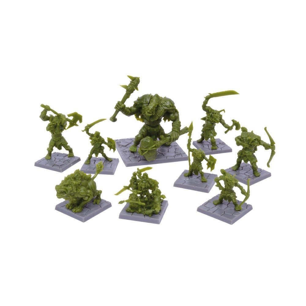 Dungeon Saga: Green Rage Miniatures Set - Mantic Games