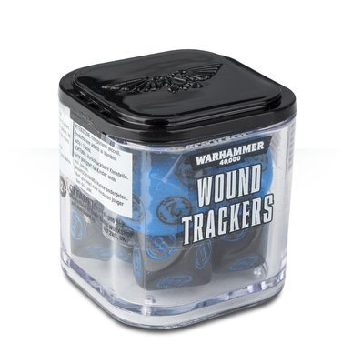 WARHAMMER 40000: WOUND TRACKERS Wundenmarker Blau Schwarz - Games Workshop