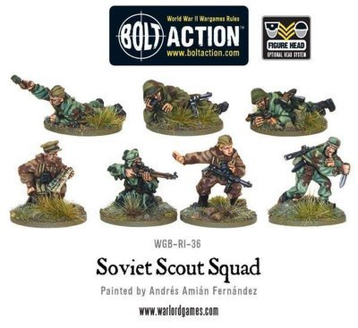 Soviet Army Scouts (7) - Soviet - Warlord Games