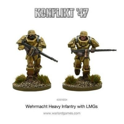 German Heavy Infantry with LMGs - Konflikt '47 - Warlord Games