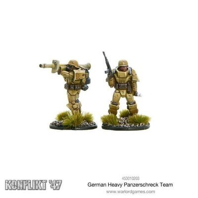 German Heavy Panzerschreck team - Konflikt '47 - Warlord Games