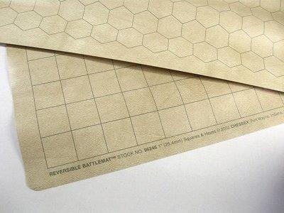 Reversible Battlemat - Spielmatte - Square/Hex 34.5x48