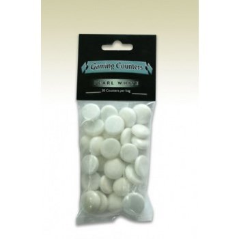 Opaque Gaming Counters - Pearl White (30 pcs)