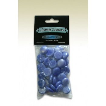 Opaque Gaming Counters - Marble Blue (30 pcs)