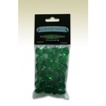 Transparent Gaming Counters - Emerald Green (30 pcs)
