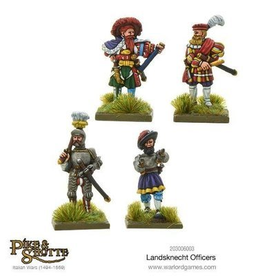 Landsknechts officers - Pike & Shotte - Warlord Games