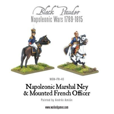 Napoleonic Marshal Ney & Mounted French Officer - Black Powder - Warlord Games