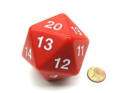 D20 W20 Countdown Magic Würfel - Rot