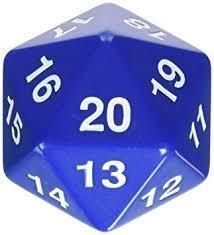 D20 W20 Countdown Magic Würfel - Blau