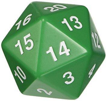 D20 W20 Countdown Magic Würfel - Grün