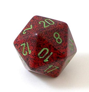 Speckled Strawberry W20 Opaque D20 34mm - Chessex