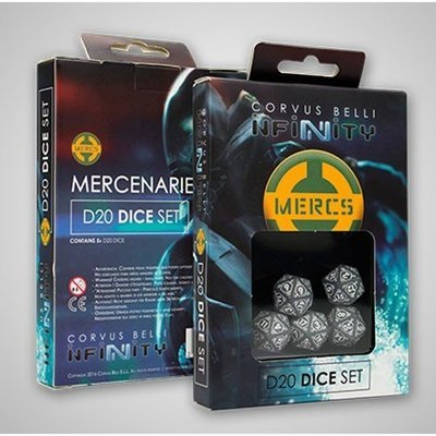 Mercenaries D20 Dice Würfel Set - Infinity