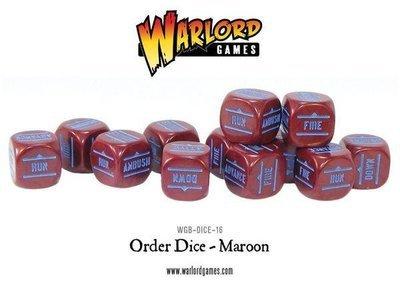 Befehlswürfel - Order Dice - Maroon - Bolt Action