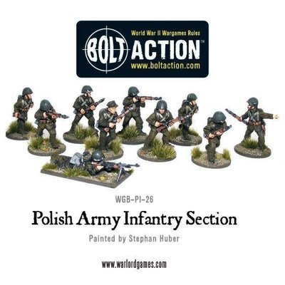 Polish Infantry Squad in greatcoats (10) - Polish - Bolt Action