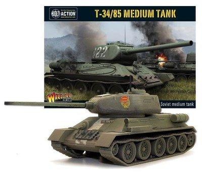 T-34/85 Medium Tank - British - Bolt Action