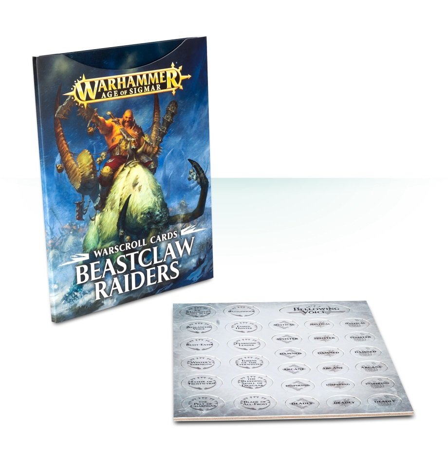 Warscroll Cards: Beastclaw Raiders (Deutsch) - Warhammer Age of Sigmar - Games Workshop