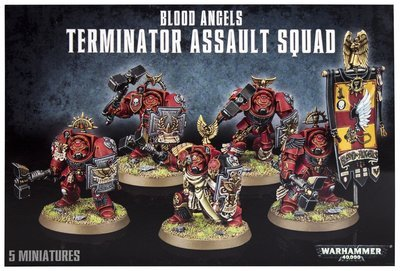 MO: BLOOD ANGELS TERMINATOR ASSAULT SQUAD - Warhammer 40.000 - Games Workshop