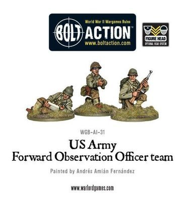 US Army FOO Forward Observer Officers - Bolt Action - Warlord Games