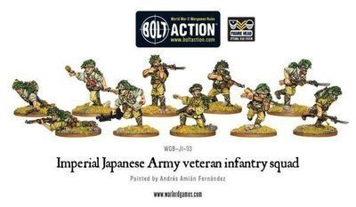 Imperial Japanese Army Veteran Infantry Squad - Bolt Action - Warlord Games