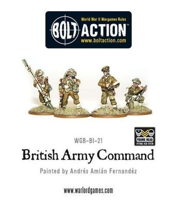 British Army Command - Bolt Action - Warlord Games