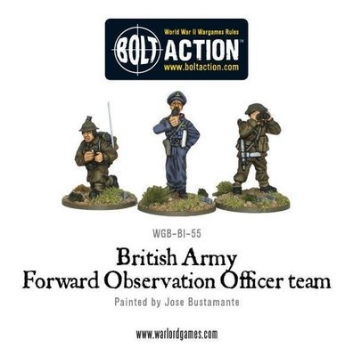 British Army FOO Forward Observer Officers - Bolt Action - Warlord Games