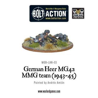 German Heer MG42 MMG HMG TEam (1943-45) - Bolt Action - Warlord Games