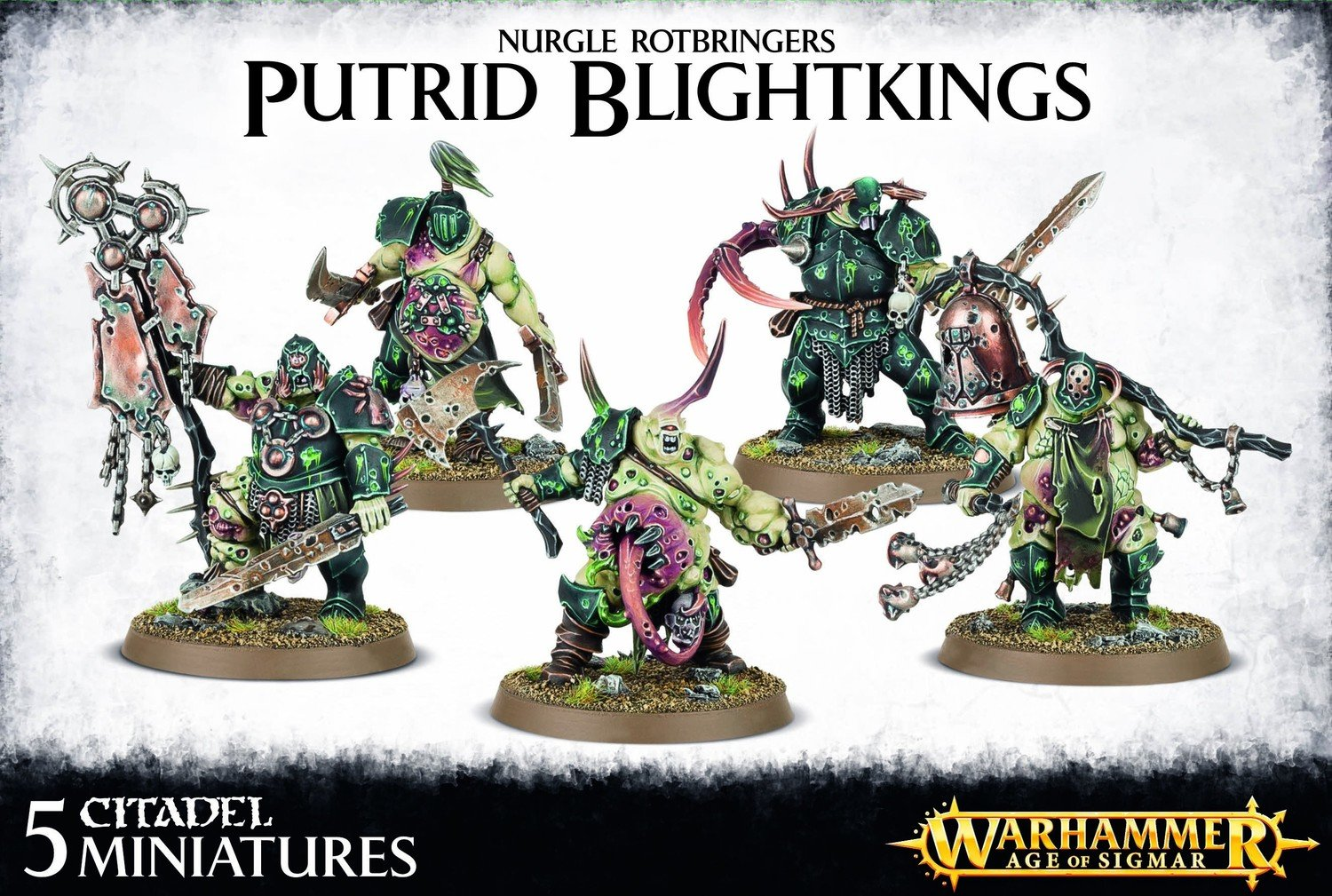 Putrid Blightkings - Age of Sigmar - Warhammer - Games Workshop