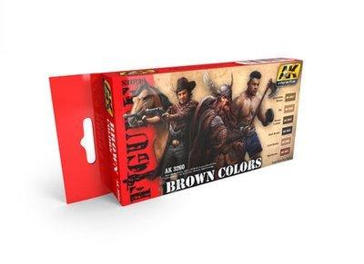Brown Colors - Farbset - AK Interactive