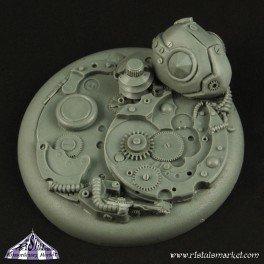 Robotic Gear 50mm Round Edge Base no1 (1) - Bases - Ristul