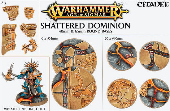 Age of Sigmar Shattered Dominion 40mm - 65mm round Bases - Games Workshop