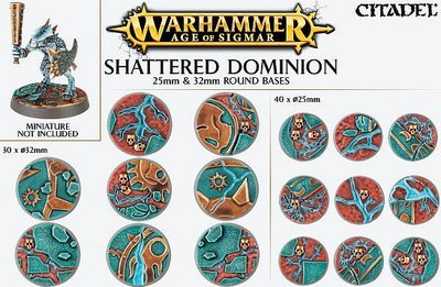 Age of Sigmar Shattered Dominion 25mm - 32mm round Bases - Games Workshop