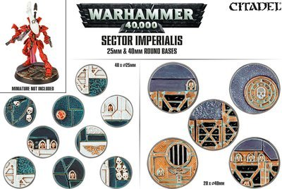 Sector Imperialis: Rundbases (25 & 40 mm) round Bases - Games Workshop