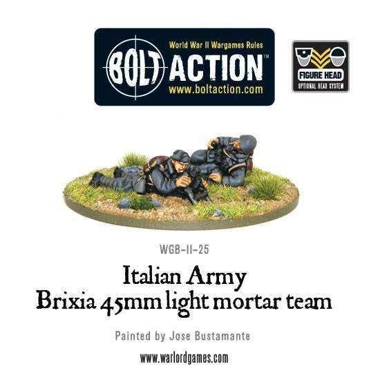 Italian Army 45mm Brixia light mortar - Allies - Bolt Action