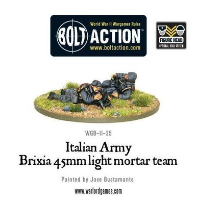 Italian Army 45mm Brixia light mortar - Allies - Bolt Action
