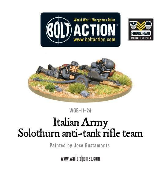 Italian Army Solothurn anti-tank rifle team - Allies - Bolt Action