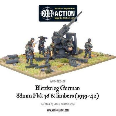 Blitzkrieg German 88mm Flak 36 & limbers (1939-42) - Bolt Action - Warlord Games