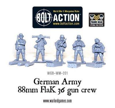 German 88mm Flak 36 gun crew - Bolt Action - Warlord Games