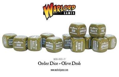 Befehlswürfel - Order Dice - Olive Drab - Bolt Action