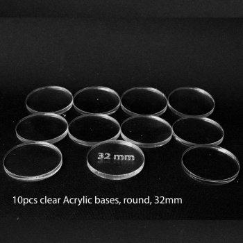 Acrylic Base - Round 32mm (10 Pcs) - BF