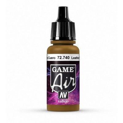 Vallejo Game Air - Leather Brown (17ml) - 72740