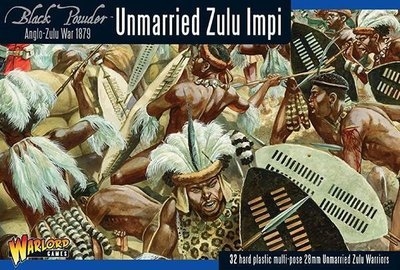 Anglo-Zulu War: Unmarried Zulu Impi - Black Powder - Warlord Games
