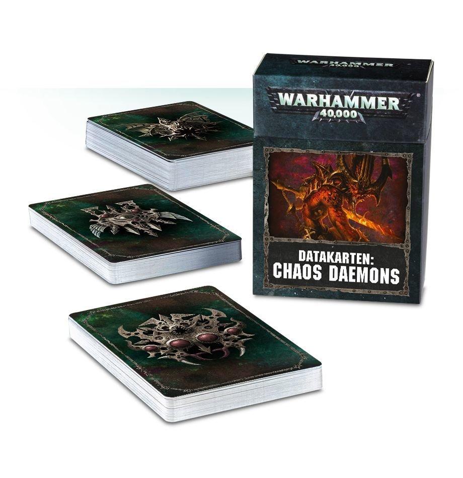 Datakarten: Chaos Daemons (DEUTSCH) - Warhammer 40.000 - Games Workshop
