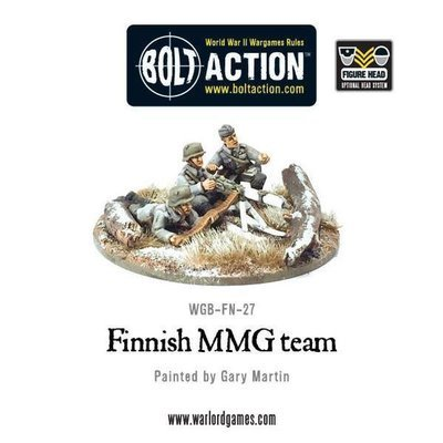 Finnish MMG Team - Allies - Bolt Action