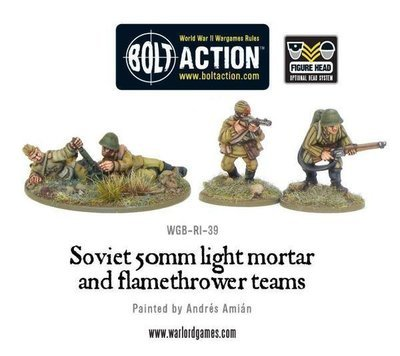 Soviet Army Light Mortar & Flamethrower - Bolt Action - Warlord Games