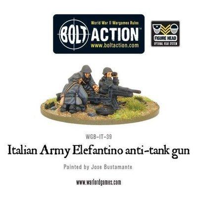 Italian Army 47mm Elefantino anti-tank gun - Allies - Bolt Action