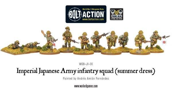 Imperial Japanese Army infantry squad (summer dress) - Bolt Action - Warlord Games